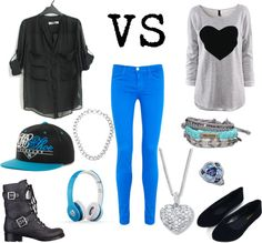 """Tomboy VS Girly"" by annaruthp1 ❤ liked on Polyvore"