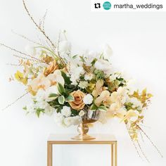 #Repost @martha_weddings  ・・・  Searching for wedding flower inspo? 🌺 Take a cue from this year's best dressed at the #Oscars! Event designer + planner @lauraremmert enlisted flower pros @mimosafloral (who created this gold-hued arrangement), @denisefasanello, and @blushdesignsny to craft stunning arrangements that speak to her favorite red-carpet looks. 🌸 Visit our Stories to see more! 👆🏼 #marthaweddings 📷: @torywilliams