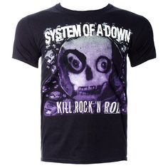 SYSTEM OF A DOWN DEATH TO ROCK N ROLL T SHIRT (BLACK)