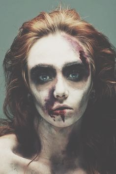 Inspiration by Stephanie Neiheisel from Freelance Makeup Artist. #HalloweenBeauty My editorial zombie. #Halloween #Zombie #beauty #spooky @bloomdotcom