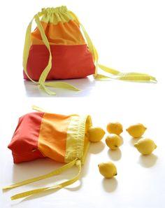 DIY: fabric sacks http://berryvogue.com/handbags