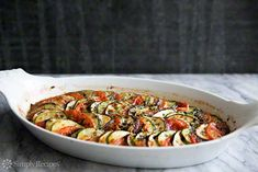 Looking for the best Japanese Eggplant recipes? Get recipes like Zucchini, Eggplant, Tomato Gratin, Eggplant Green Curry and Sichuan Eggplant from Simply Recipes. Yummy Vegetable Recipes, Broccoli Recipes, Vegetable Dishes, Vegetarian Recipes, Vegetable Tian, Eggplant Zucchini, Eggplant Recipes, Simply Recipes, New Recipes