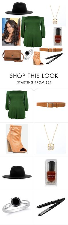"""""""Untitled #230"""" by yasm-ina ❤ liked on Polyvore featuring Boohoo, rag & bone, JustFab, Études, Ice, BaByliss and Day & Mood"""