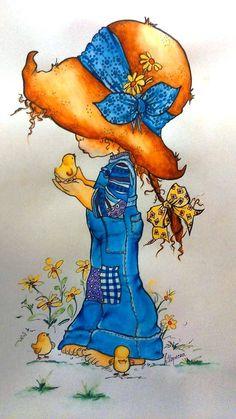 Holly Hobbie, Beatrix Potter, Art Portfolio, Skull Art, Doll Face, Big Eyes, Watercolor Flowers, Cute Drawings, Cute Art