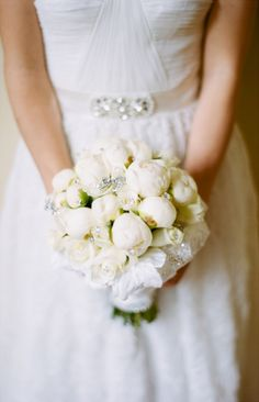 White Peony Bridal Bouquet | photography by http://www.marvintsai.com/blog/ | floral design by Figaro Flowers Inc | styling by http://www.lizlavie.com/