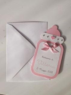 pink christening invitations made pacifier Baby Shower Cards, Baby Shower Parties, Baby Boy Shower, Baby Invitations, Shower Invitations, Christening Invitations, Baby Shower Invitaciones, Baby Scrapbook, Baby Party