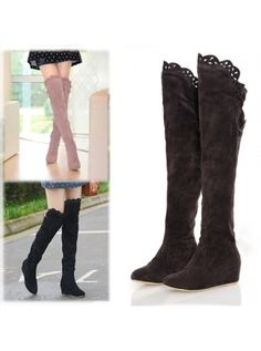 Black Fashion ItS7 Pink Brown Women Korean Over Knee High Long Shoes Official Boots