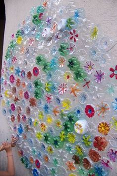 Recycled bottle art. Gloucestershire Resource Centre http://www.grcltd.org/scrapstore/
