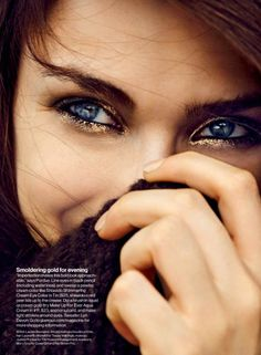 Standout eyes (Nathalia Novaes by Beau Grealy for Glamour US January 2014)