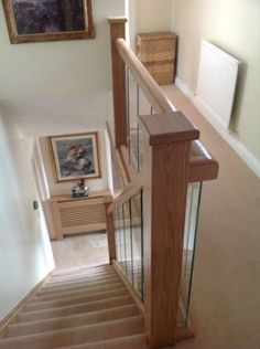 about Glass and Oak Balustrade - Refurbishment Kit Staircase and Landing Picture 4 of Leaf An oak leaf is the leaf of an oak. Oak leaf or Oakleaf may also refer to: Stairs And Staircase, Staircase Remodel, Staircase Design, Staircases, Staircase Ideas, Stairway, Glass Stairs, Glass Bannister, Traditional Staircase