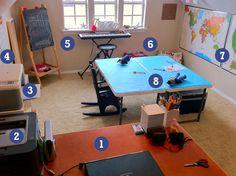 homescool   Homeschool Classroom Makeover - Crash Test Mommy