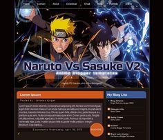 Naruto VS Sasuke V2 Blogger Template