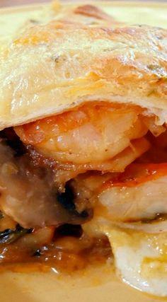 Shrimp Enchiladas with Jalapeno Cream Sauce