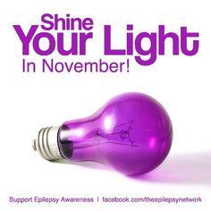 November is Epilepsy Awareness Month!