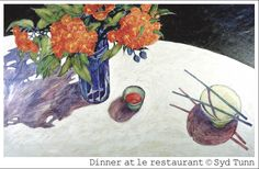 """""""Dinner at le Restaurant"""" acrylic by Syd Tunn"""