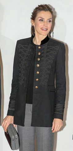 Letizia - Zara Military Jacket. Felt zip bag and earrings by Parfois.
