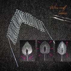 っぱ一筆書き#ワイヤークラフト#Wire_work#Wire Leaf_#One_line#ワイヤー雑貨#インテリア雑貨#壁飾り#ディズニー#ハンドメイド作品#壁掛け#一筆書き#wire_sculptur Wire Jewelry Designs, Handmade Wire Jewelry, Chicken Wire Art, Wire Art Sculpture, Wire Ornaments, Wire Tutorials, Crochet Motif Patterns, Wire Flowers, Viking Knit