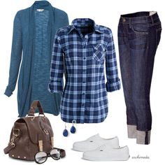 """Casual in Blue"" by archimedes16 on Polyvore"
