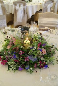 Fabulously Wild Flower Wedding Day at St Francis & Mitton Hall For Jen & Michael Wedding Reception Tables, Wedding Day, Small Flowers, Wild Flowers, Wedding Lanterns, St Francis, Natural Looks, Wedding Flowers, Colours