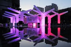 Thai design studio Apostrophy's (sic), is an inflatable, LED-powered spatial game.