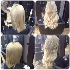 Amazing blonde transformation by Sophie using Easilocks extensions Easilocks Hair Extensions, Amazing Transformations, Up Hairstyles, Color Change, Maya, Hair Beauty, Plush, Stylists, Island