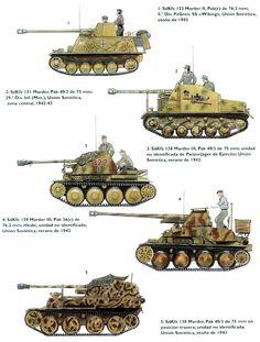 The Marder series of tanks destroyer/ self propelled anti-tank guns