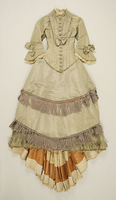 Wedding dress, ca 1875, American, silk