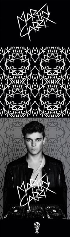 New Martin Garrix's logo and pattern application by #damerodesign