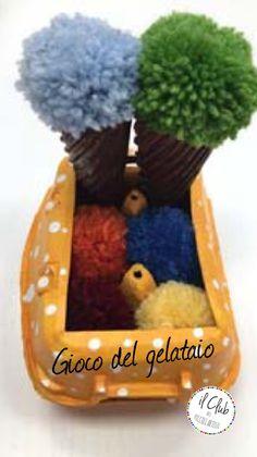 Recycled work, il cartone delle uova diventa....il gioco del gelataio Clubdeipiccoliartisti Verona Fb: clubdeipiccoliartisti  clubdeipiccoliartisti@yahoo.it