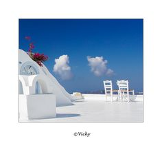 two chairs and two clouds, Santorini by Vicky Dens, via 500px