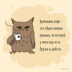#кофе #сова #утро #morning #coffee #owl