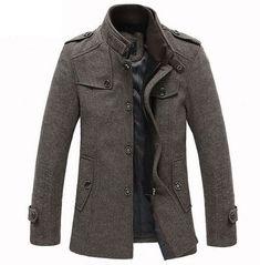 Man's Overcoat, Winter Overcoat, Winter Coats, Winter Jackets For Men, Moda Formal, Tweed Coat, Jacket Style, Men's Jacket, Trench Jacket