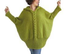 20% WINTER SALE NEW Over Size Sweater With Hood by Afra