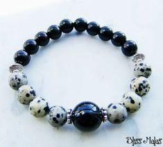 Wrist Mala Bracelet Gemstone Bracelet Healing Mantra by BlissMalas