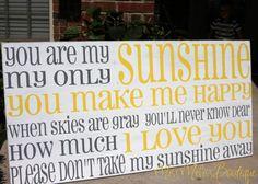 You are my sunshine Horizontalcottage style by MissMelissBoutique, $160.00