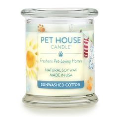 One Fur All Pet House Sentiments Candle Allergen-Free Pet Lover Gifts Eco-Friendly Candle Non-Toxic Natural Soy Wax Pet Odor Neutralizer Jasmine Lilly