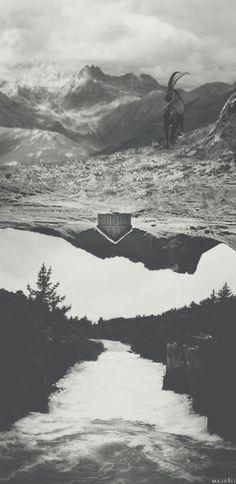 Solitude  #surreal #darkart #darkness #artwork #dark #melancholia #art #artist