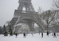Paris Tourists Dont Mind Eiffel Tower Closure in the Snow  People stroll on the snow-covered Champ de Mars during a snowfall in Paris France Friday Feb. 9 2018. The Eiffel Tower is closed and authorities are telling drivers in the Paris region to stay home as snow and freezing rain have hit a swath of France ill-prepared for the wintry weather. Michel Euler / Associated Press  Skift Take: Paris is already a fairy-tale destination for certain kinds of tourists. A bit of snow only ups the…