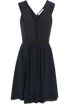 VICTORIA, VICTORIA BECKHAM silk crepe de chine dress (black) S/S 14 by www.giulialoves.com