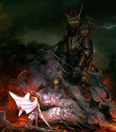 Morgoth and Fingolfin, the Ruin of Beleriand by Art-Calavera.deviantart.com on @deviantART