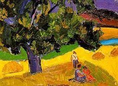 Paysage de Provence: les Michoules by Pierre Ambrogiani