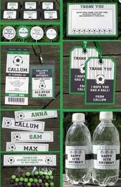 Make your soccer party exceptionally lovely with this round up of soccer party printables. Some free, others cheap and some incredible sets to buy! Soccer Birthday Parties, Soccer Party, Sports Party, Soccer Wedding, Football Birthday, Party Printables, Printable Birthday Invitations, Party Tickets, Childrens Party