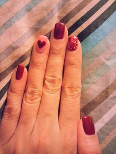 Valentine's day nails :)
