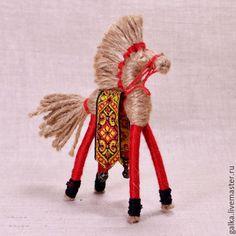 Купить Солнечный конь. Народная кукла - комбинированный, народная кукла, оберег, подарок мужчине, конь
