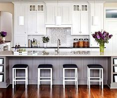 Image result for kitchen with purple accents