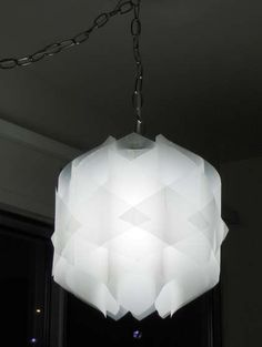 Modern Geometric Lamp, I'm not usually this modern but I kind of like this for bedside table lamps.