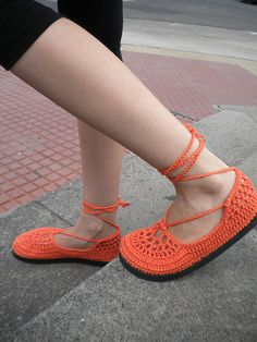 actual crocheted shoes.... love em!