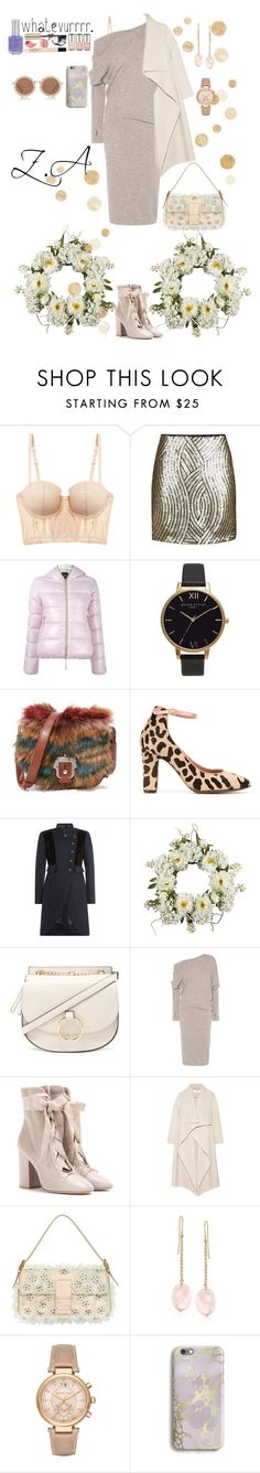 """""""Untitled #265"""" by zemaasg ❤ liked on Polyvore featuring Blush Lingerie, Topshop, Duvetica, Olivia Burton, Paula Cademartori, L'Autre Chose, Marc by Marc Jacobs, Nearly Natural, Forever 21 and Tom Ford"""