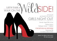 Red Heels Girls Night Out Invitation