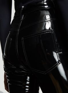 Maison Margiela High Shine Pants in Black Pantalon Vinyl, Leather And Lace, Leather Pants, Pvc Leggings, Vinyl Clothing, Leder Outfits, Dark Fashion, Skin Tight, Cool Outfits